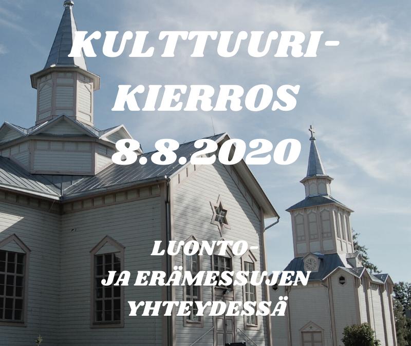 Kulttuurikierros 8.8.2020